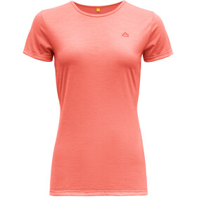 Devold Valldal T-shirt Dames, coral